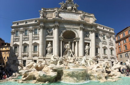The Trevi Fountain,